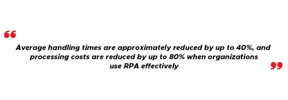 RPA reduces costs