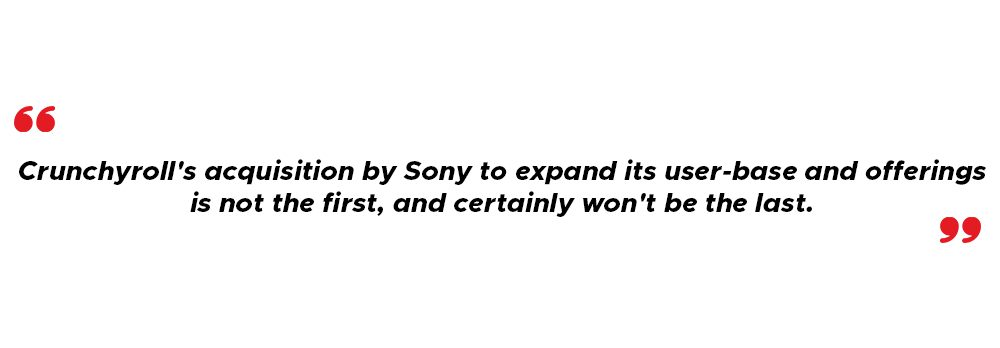 Crunchyroll's acquisition by Sony